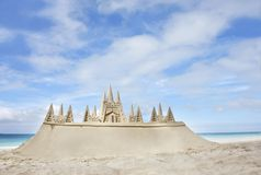 海滩城堡沙子 图库摄影