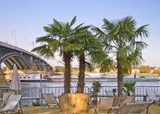 海滩城市美因法 免版税库存照片