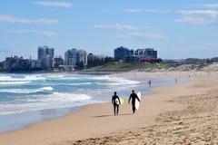 海滩城市风景 免版税库存照片