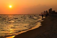 海滩城市巴拿马海岸线 库存图片