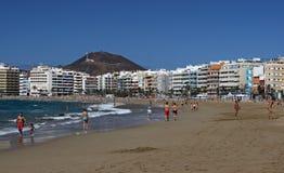 海滩城市Las Palmas 免版税库存图片