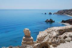 海滩塞浦路斯 免版税库存照片