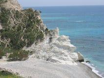 海滩塞浦路斯 图库摄影