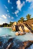海滩塞舌尔群岛 免版税库存照片