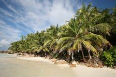 海滩塞舌尔群岛 库存照片