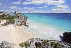 海滩墨西哥tulum 免版税库存图片