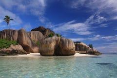 海滩处女的塞舌尔群岛 免版税图库摄影