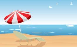 海滩夏天 向量例证