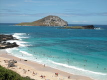 海滩夏威夷人 库存图片