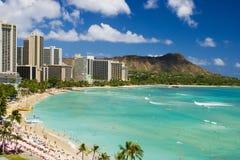 海滩夏威夷奥阿胡岛waikiki 免版税库存照片