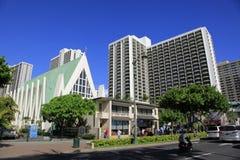 海滩夏威夷檀香山waikiki 免版税库存照片