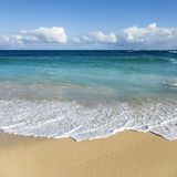 海滩夏威夷毛伊 免版税图库摄影