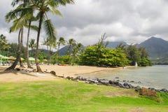 海滩夏威夷海岛考艾岛 库存图片