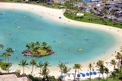 海滩夏威夷盐水湖奥阿胡岛waikiki 库存照片