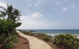 海滩夏威夷走道 免版税库存图片