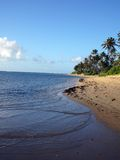 海滩夏威夷kahala 图库摄影