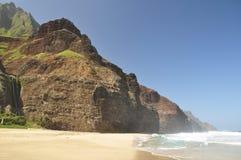 海滩夏威夷kalalau考艾岛 免版税库存图片