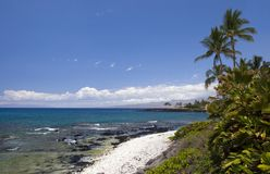 海滩夏威夷kona 免版税库存照片