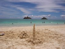 海滩夏威夷lanikai 免版税库存图片
