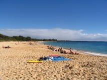海滩夏威夷makena毛伊 库存图片