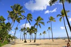 海滩夏威夷waikiki 免版税库存图片
