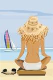 海滩夏时 皇族释放例证