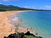 海滩大夏威夷makena毛伊 免版税库存照片