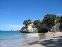 海滩大教堂小海湾新西兰 免版税库存图片