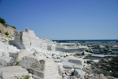 海滩大理石 库存照片