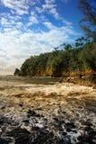 海滩大黑色夏威夷海岛 免版税库存照片