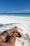 海滩天堂放松 免版税库存图片
