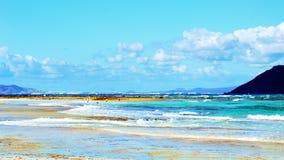 海滩天堂般的视图 库存图片