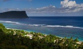 海滩天堂视图 免版税库存照片
