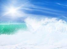 海滩天堂 免版税库存照片