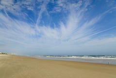 海滩天空 免版税库存照片