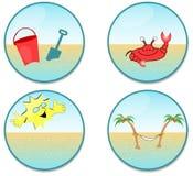 海滩夹子艺术 免版税库存照片