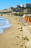 海滩奇迹西班牙塔拉贡纳 免版税图库摄影