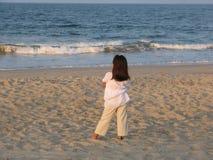 海滩女孩一点 免版税图库摄影