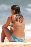 海滩女孩夏威夷 图库摄影
