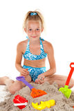 海滩女孩穿戴年轻人 免版税库存图片