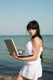海滩女孩 免版税图库摄影