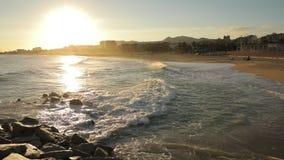 海滩好日子空的蓝色海夏天天空水海洋旅行假期波浪沙子太阳自然白色海岸天堂阳光 股票录像
