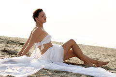 海滩婚礼 免版税库存图片