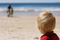 海滩子项 免版税库存图片
