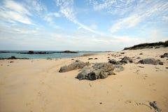海滩孑然 免版税库存照片