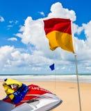 海滩安全性 库存照片