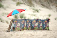 海滩安排放松 库存照片