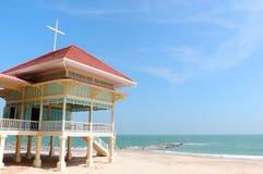 海滩宫殿 免版税库存图片