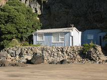 海滩家庭简单 库存图片