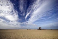 海滩家 库存照片